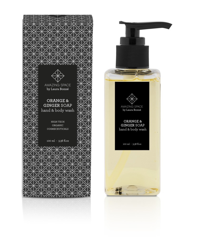 Orange & Ginger soap - Hand & body wash 100ml